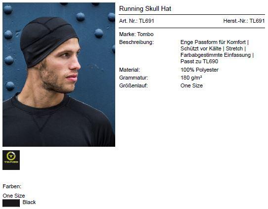 Running Skull Hat